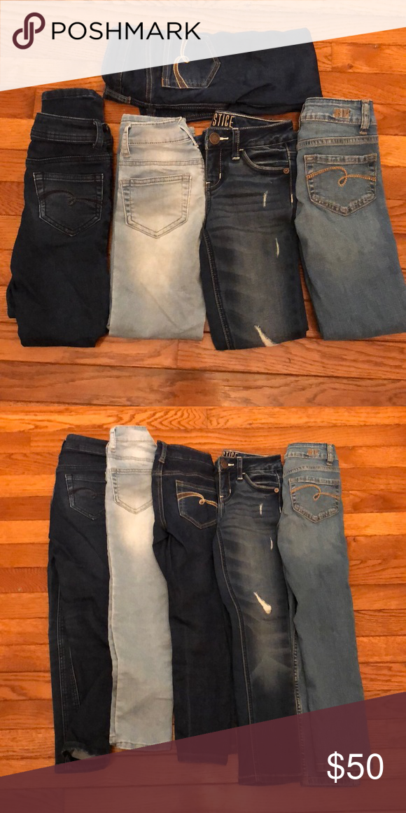 5 Pairs Justice Jeans 7 Slim Clothes Design Pairs Fashion