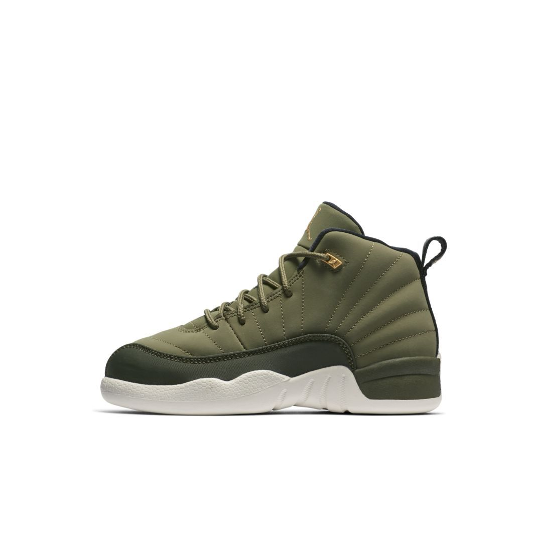 1c45b2eded018d Air Jordan 12 Retro (10.5c-3y) Little Kids  Shoe Size 11C (Olive Canvas)