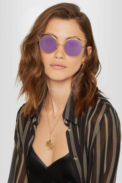 a0e4afae7c0 Dita - Believer round-frame gold-tone sunglasses