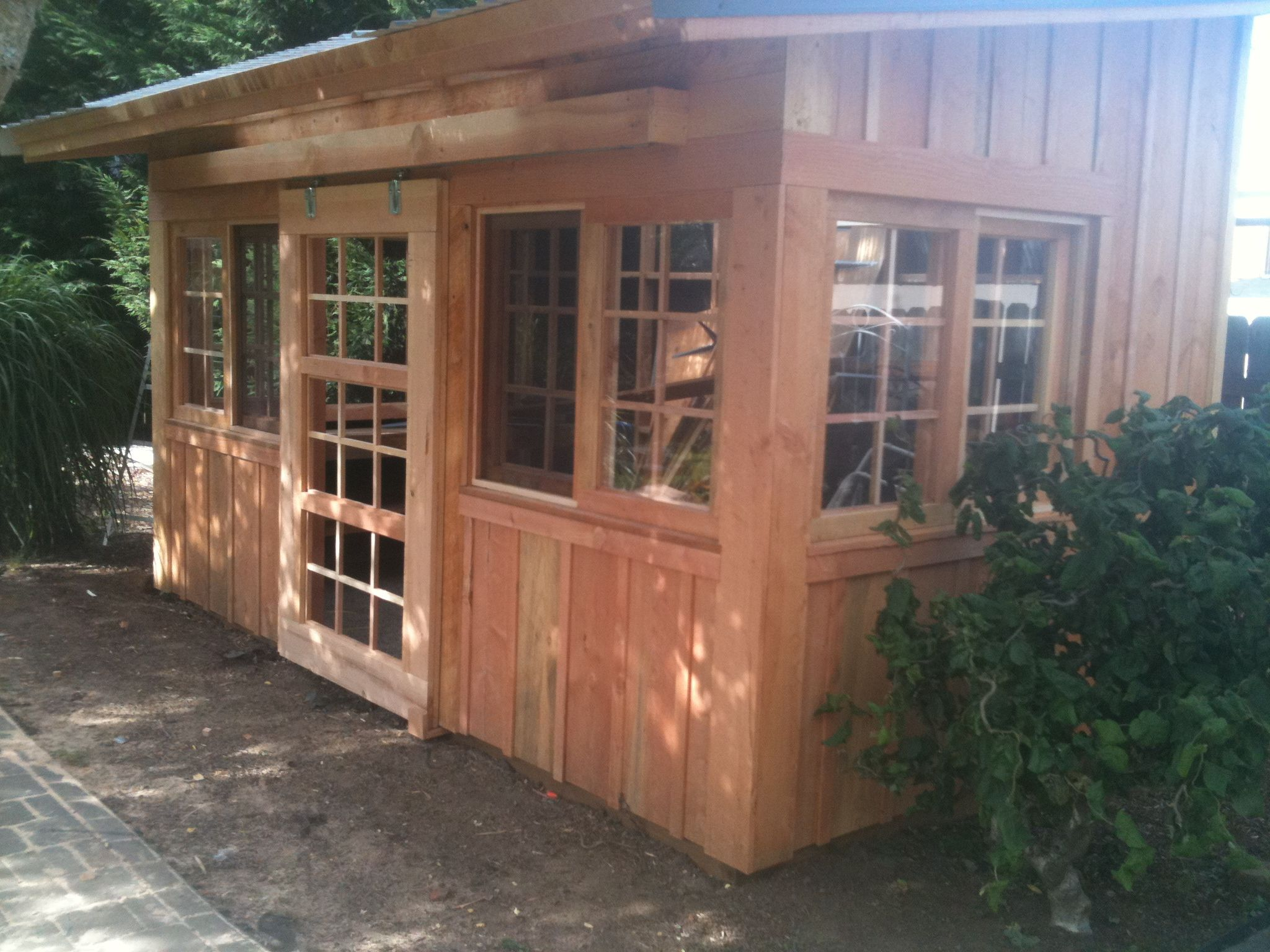 Backyard Greenhouse/shed By The Stafford Shed/ Thestaffordshed.com Oregon