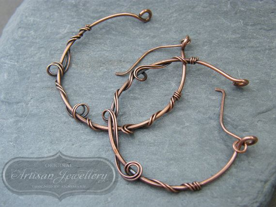 Photo of Large hoop earrings ~ Over sized hoops ~ Hoop earrings ~ Copper hoop earrings ~ Unique hoops ~ Gift for her ~ Mothers day gift ~ Copper ~