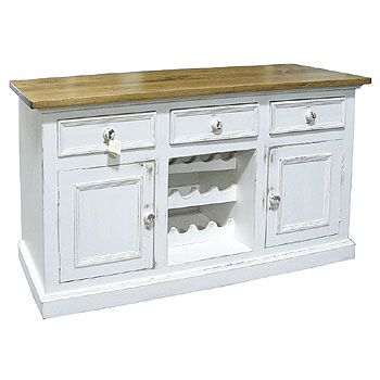 country sideboard bar   French Country Wine Buffet   3 Drawer Wine Sideboard