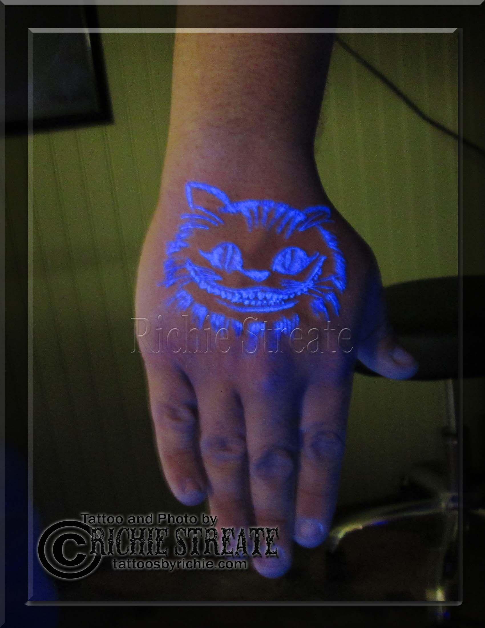 Black Light Tattoos : black, light, tattoos, Cheshire, Black, Light,, Tattoo, Halloween, Tattoos,, Tattoo,, Tattoos