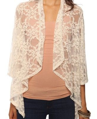 bell sleeve lace cardigan | Fashion | Pinterest | Clothes, Dream ...