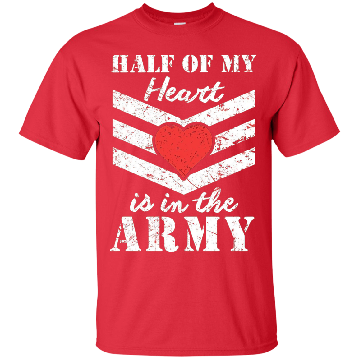 6e8569c87db872 Half of My Heart is in the Army - Girlfriend Wife T-shirt | Army T ...