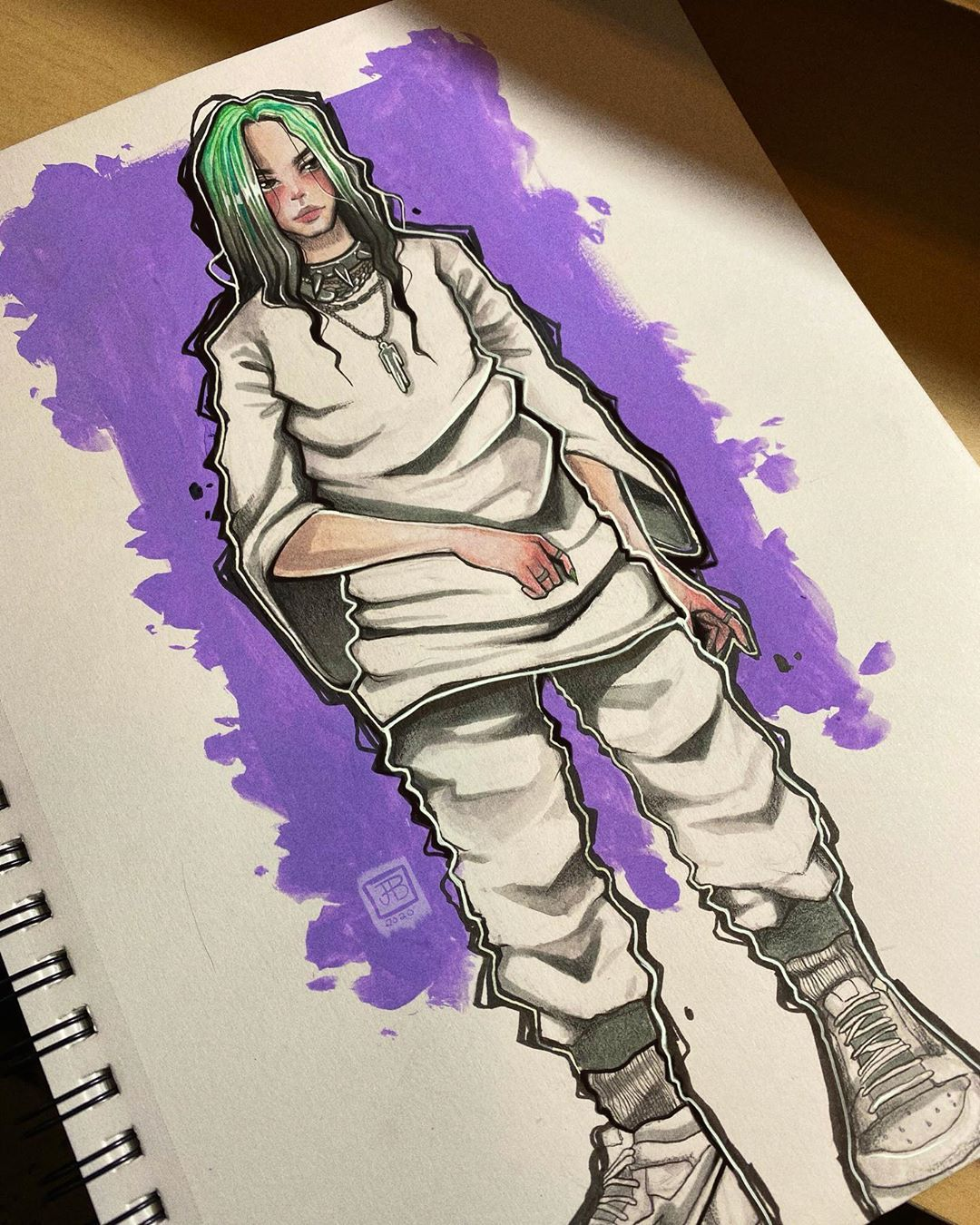 103 Likes 39 Comments Jeremy Manic Jerm On Instagram Billie Doodle Follow Me On Tiktok Manic Jerm Billie Billie Eilish Drawings
