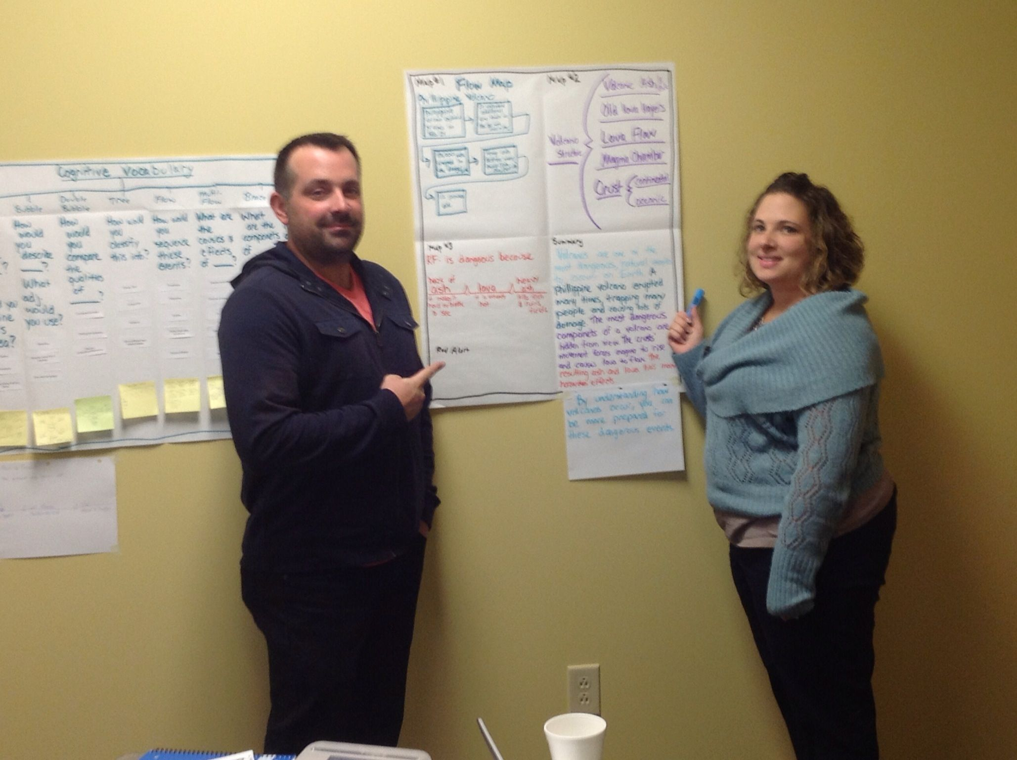 Beech Grove and MSD Decatur Twp educators working on Thinking Maps