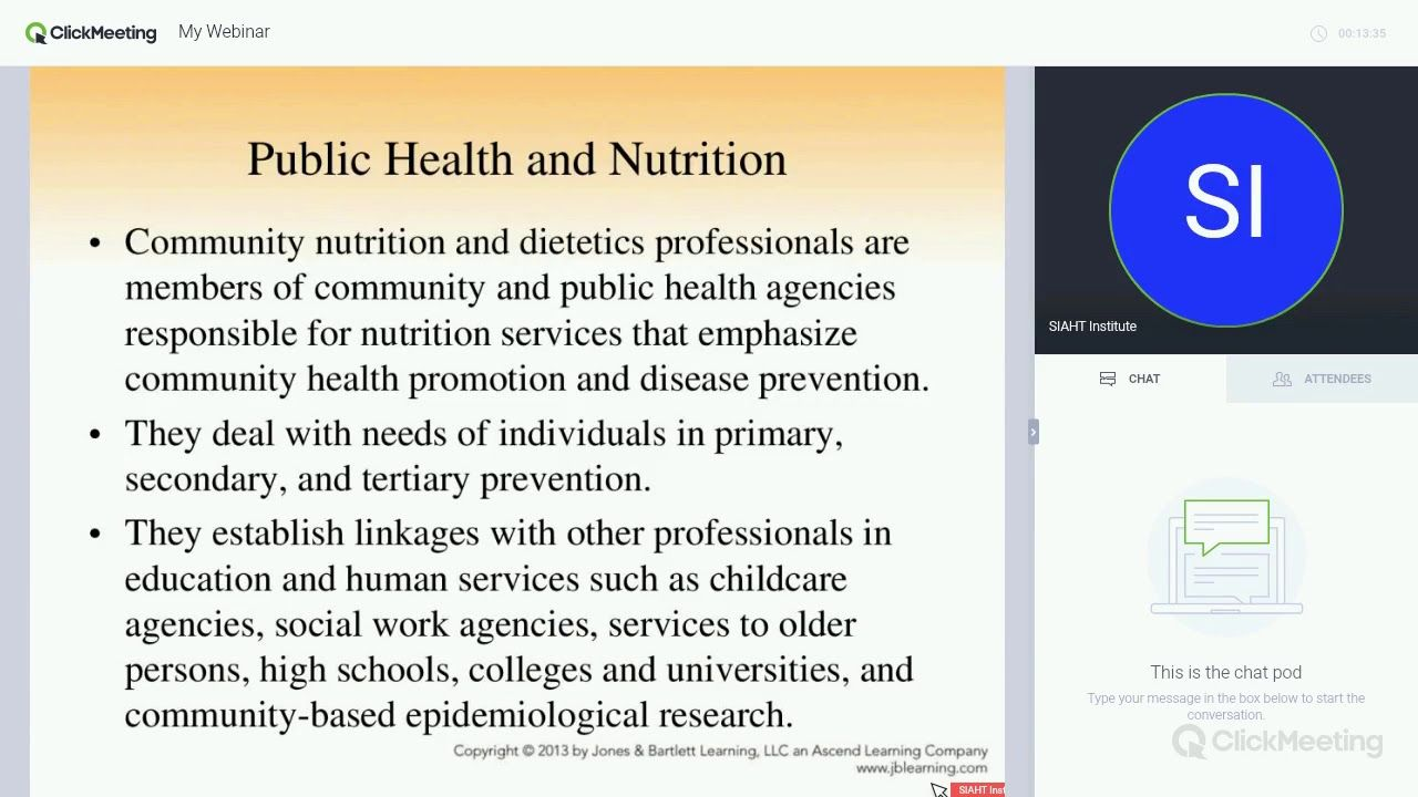 Community Health And Nutrition Webinar Introduction To Public Health