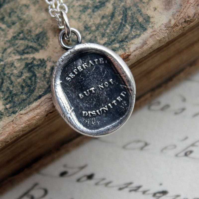 Separate but not Disunited Wax Seal Necklace
