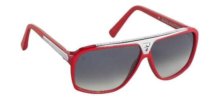 6a6b0640534 Louis Vuitton Evidence Millionaire Sunglasses Z0286W Red
