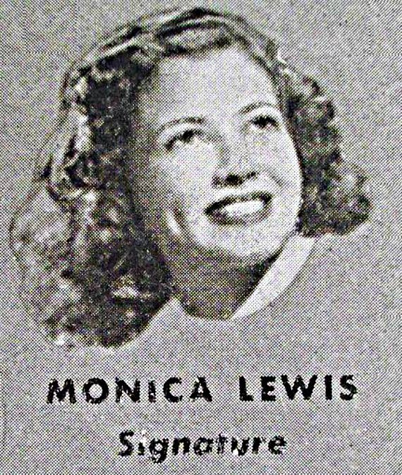 Vocalist, Monica Lewis, while she was under a recording contract with Signature Records