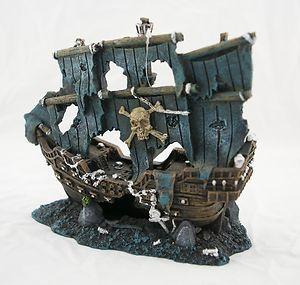 Aquarium Fish Tank Ornament Sunken Pirate Ship Ebay Aquarium