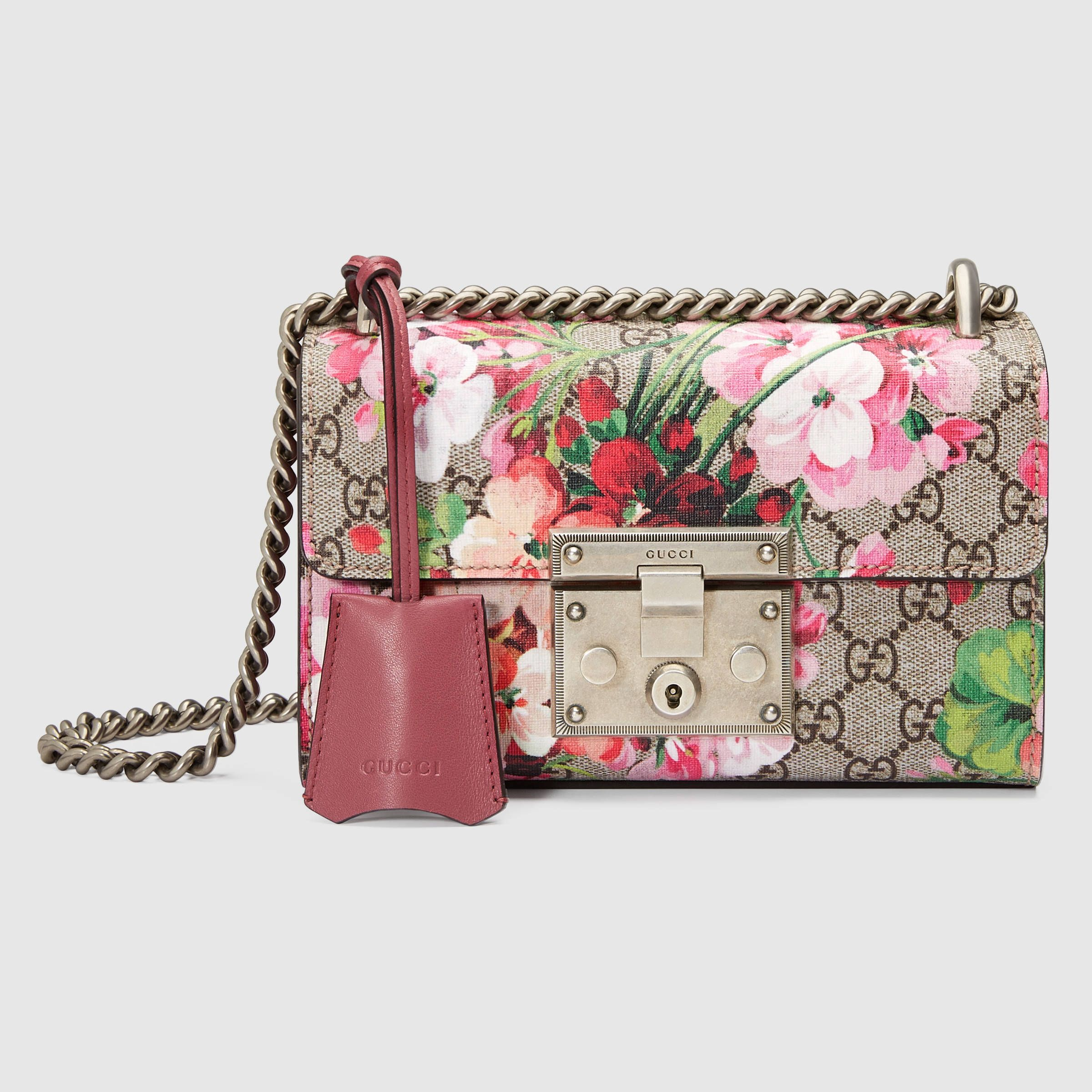 ad7c2581dcf Gucci Women - Padlock Blooms shoulder bag - 409487KU2IN8693