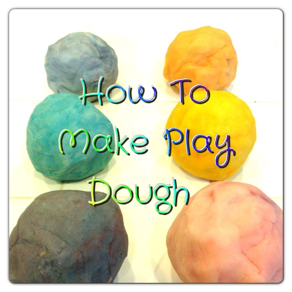 How to make Play Dough with ingredients you have on hand!