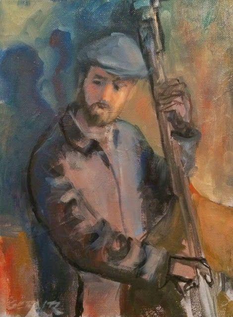 huariqueje:  Bass Player - J.Gerlitz Contemporary Art Source:http://jimgerlitz.blogspot.nl/