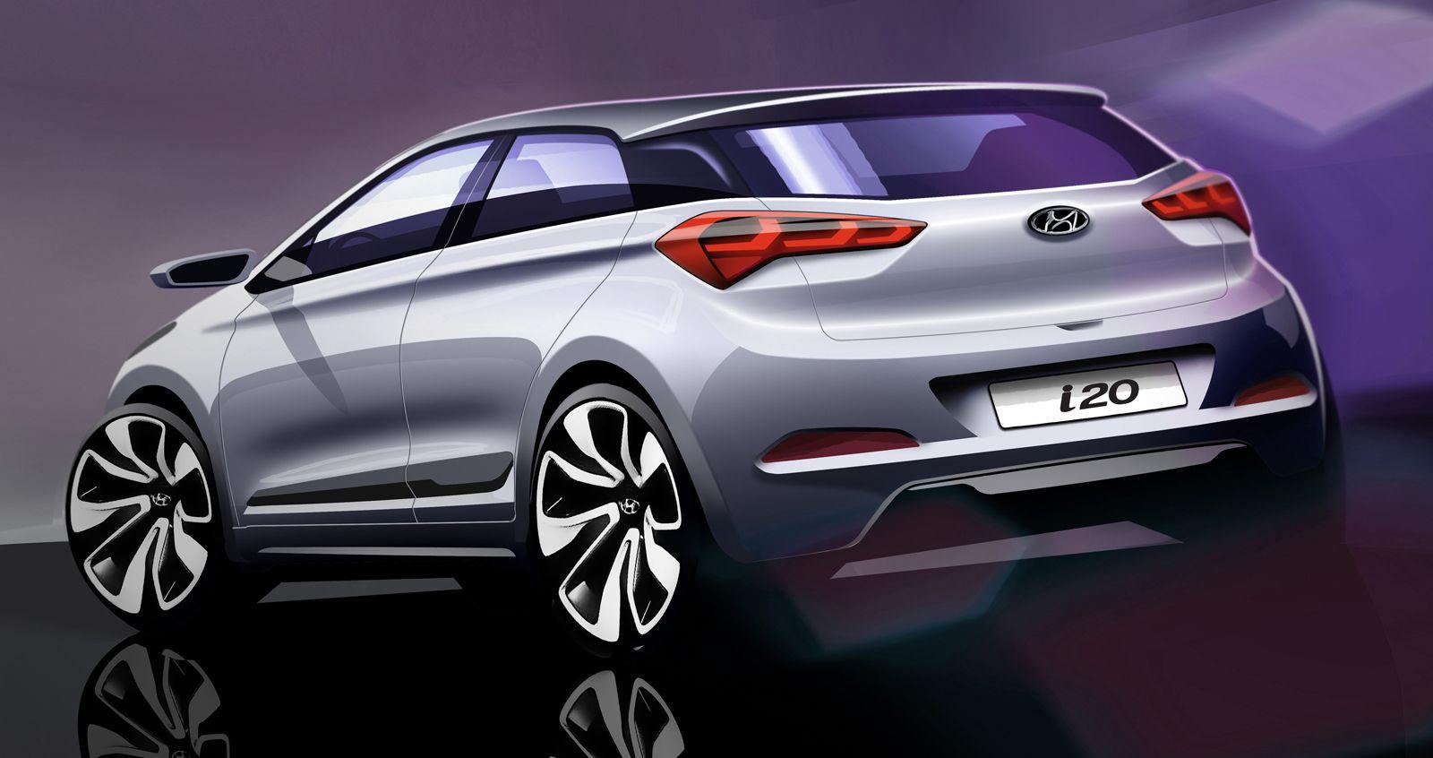 Hyundai Previews Upcoming I20 With Design Sketches Carscoops Hyundai Cars New Hyundai Hyundai