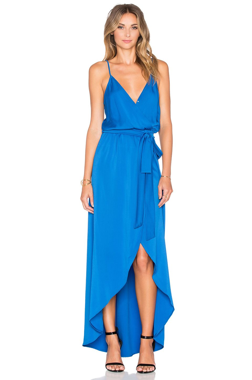 Karina Grimaldi Egypt Maxi Dress in Blue Evening gowns Pinterest