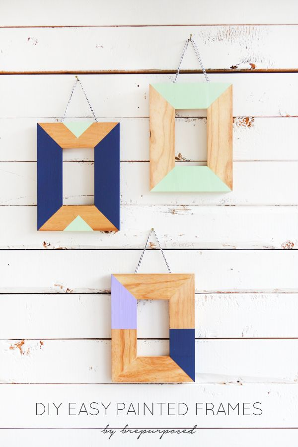 Easy Painted Frames :: Monthly DIY Challenge | Marcos de madera ...