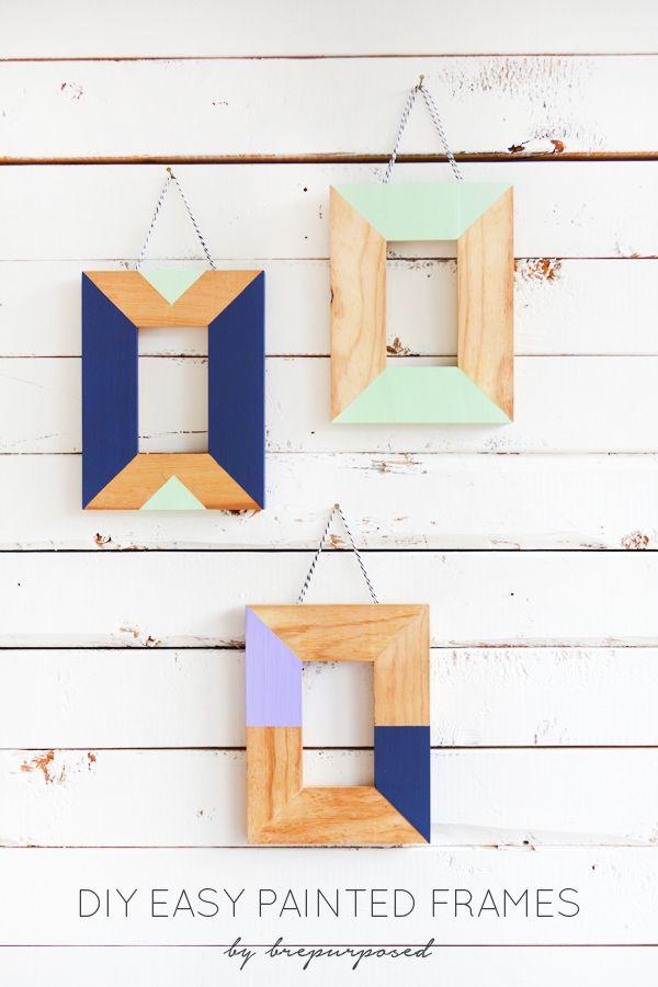 Easy Painted Frames Monthly Diy Challenge Diy Frame Home Diy