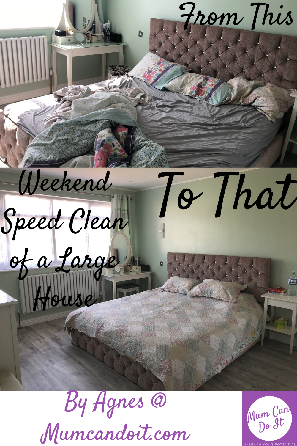 I have 4 bedroom house and it is plenty to clean and to stay on top of so a lot of things I have to just make sure I keep up with otherwise it would just be impossible to manage. #speedclean #keepitclean #myhouse