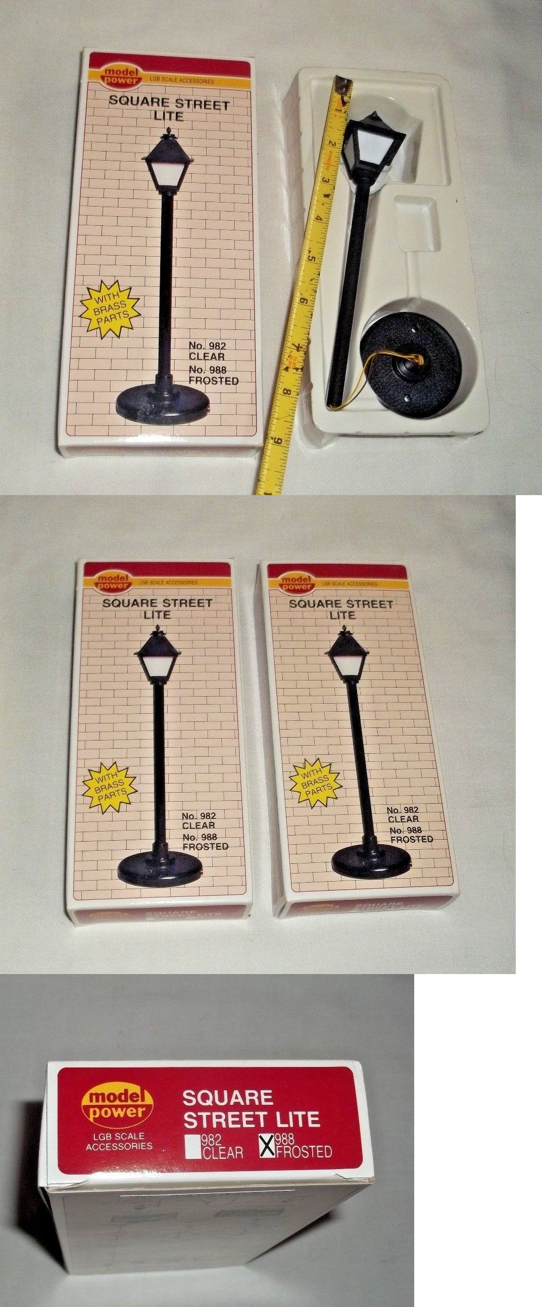 Lamps And Lights 80984 G Scale Working Square Street Lamp Lot Of