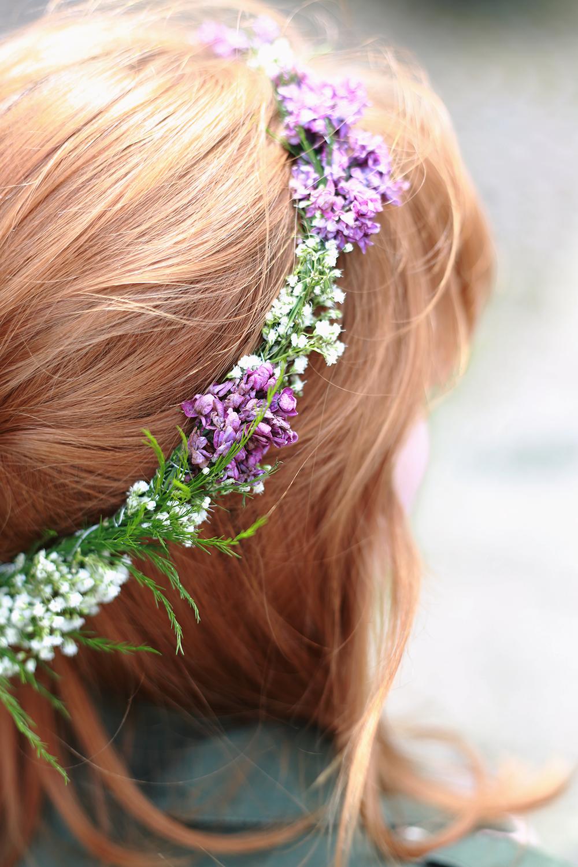 DIY Blumenkranz frs Haar mit echten Blumen  DIY