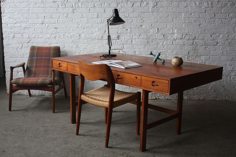 Powerful Peter Lovig Nielsen Danish Mid Century Modern Teak Flip Top ...