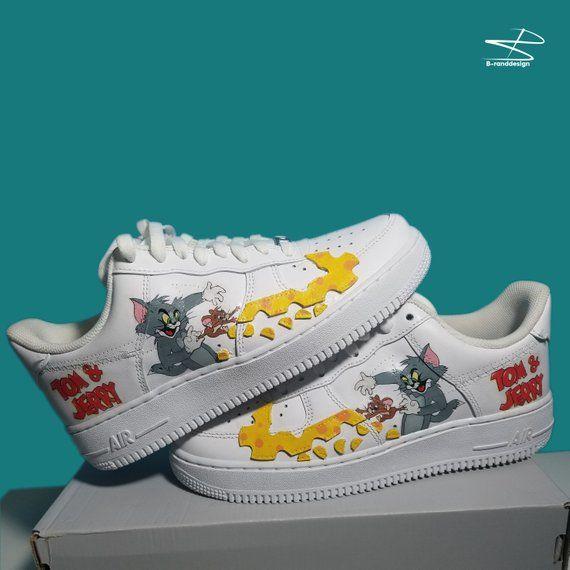 3feaf148baa2 Custom Nike Air Force Tom and Jerry custom sneakers