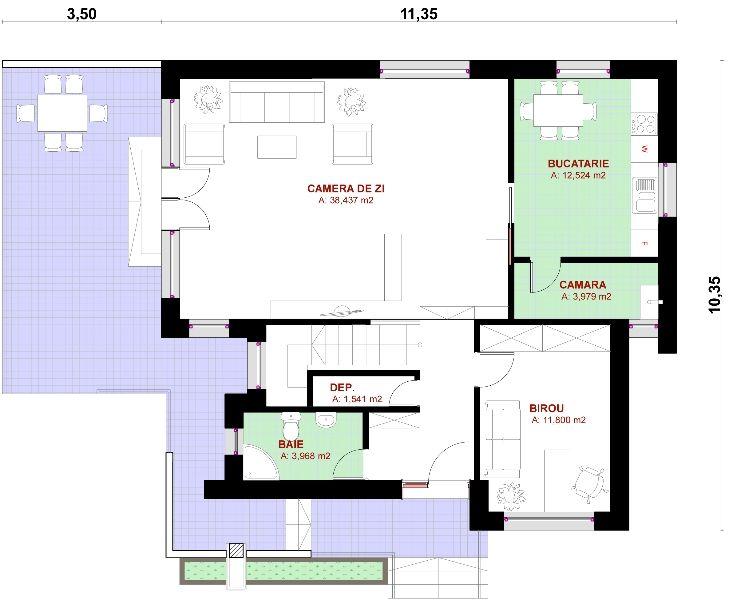 Proiect casa Senator – Magazinul de Proiecte | casa 02 | Pinterest