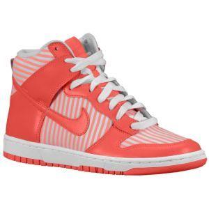 innovative design d8d3c 16f68 Nike Dunk High Skinny - Womens - Sport Inspired - Shoes - Hot PunchWhite