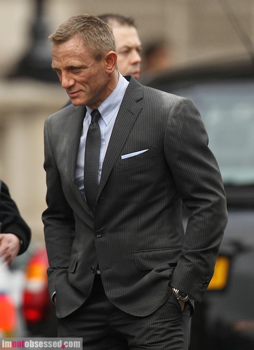 Tom Ford Thin Pinstripe Grey Suit Skyfall James Bond