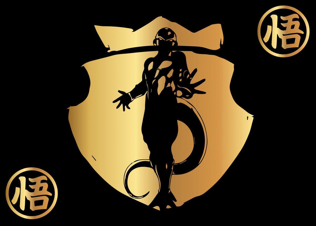 Dragonball Frieza Gold 4 Metal Poster Maricris M Displate Cool Artwork Metal Posters Japan Art