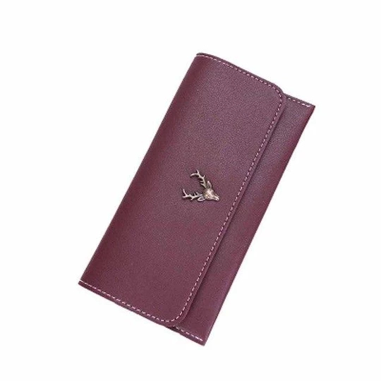 New Fashion Green Wallet For Women Lady Long Clutch Wallets Deer Printedintothea #walletsforwomen