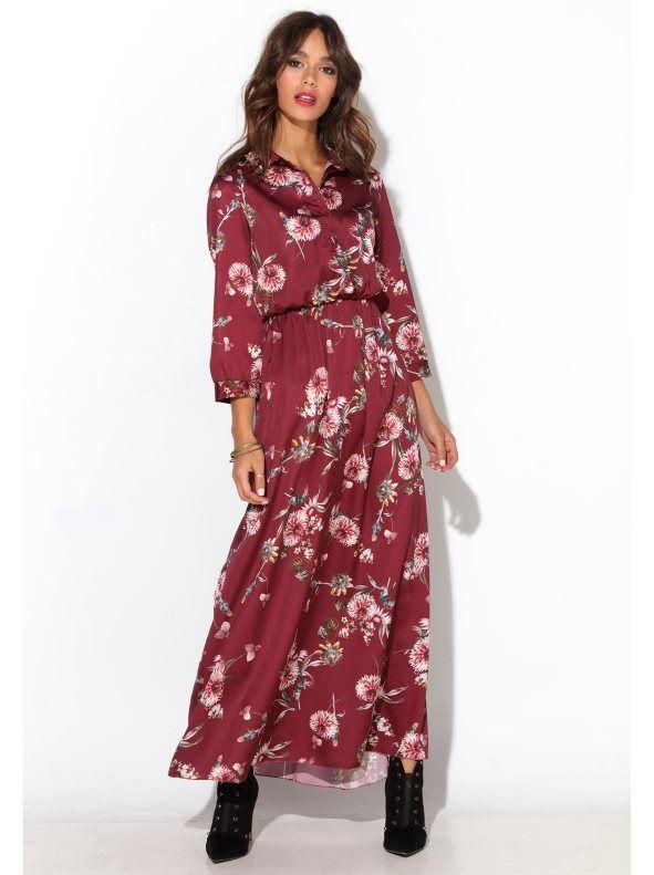 036f9ab9a8 Esta temporada luce todos tus encantos femeninos con este atractivo vestido  largo de suave raso estampado