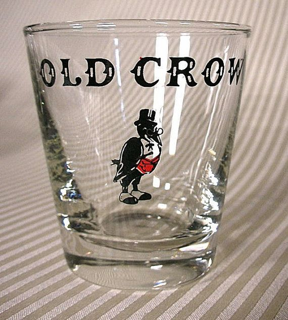 "Jim Beam Kentucky Straight Bourbon Whiskey Label Glass Low Ball Glass 4/"" Tall"
