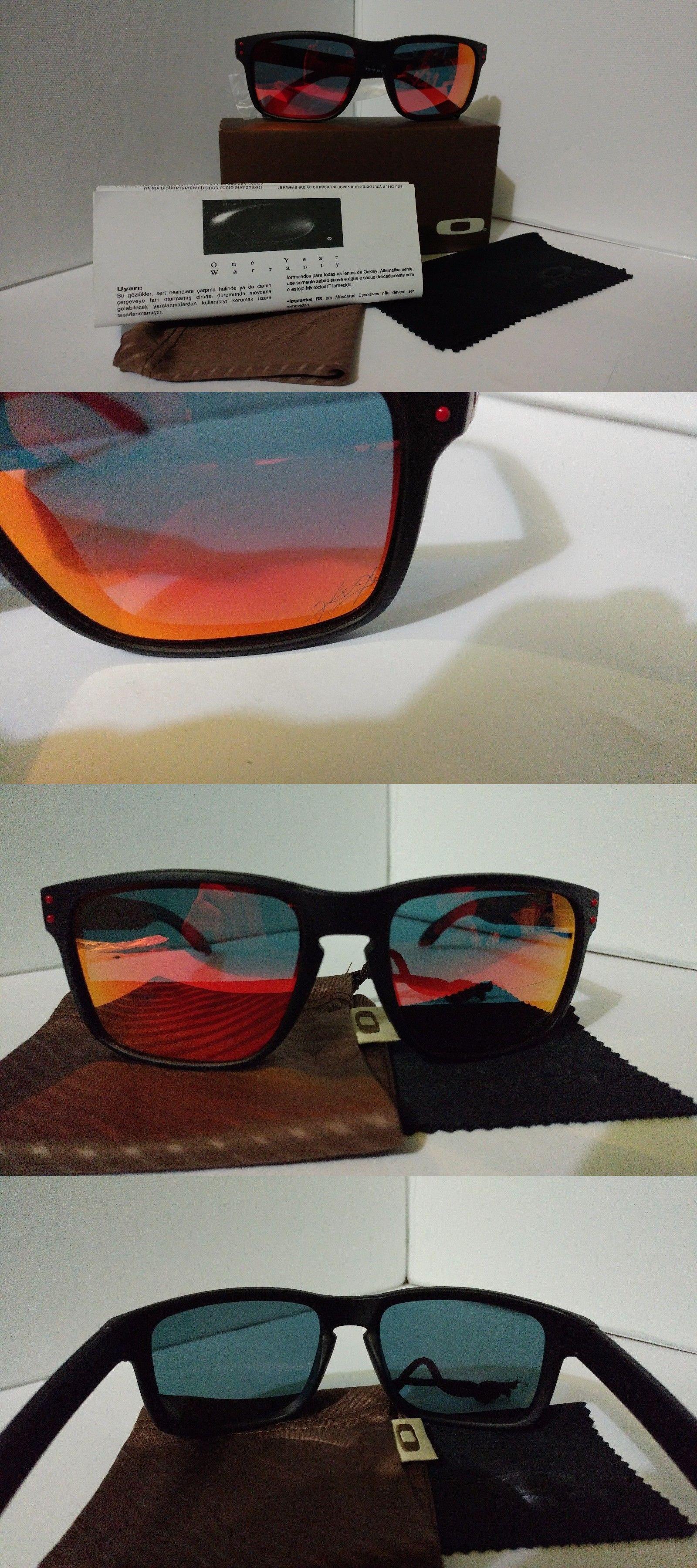 cdb0e8b6b4e2 ... coupon for sunglasses 79720 oakley holbrook oo9102 matte black frame w  55mm red polarized lens 53957