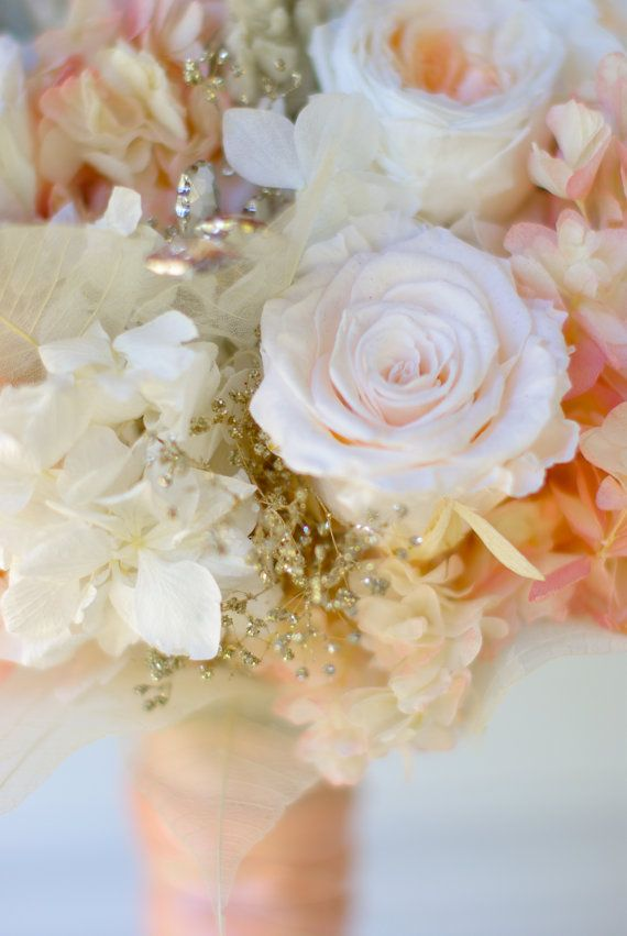 Rose Gold Bridal Bouquet Preserved flowers not by Floralescence ...