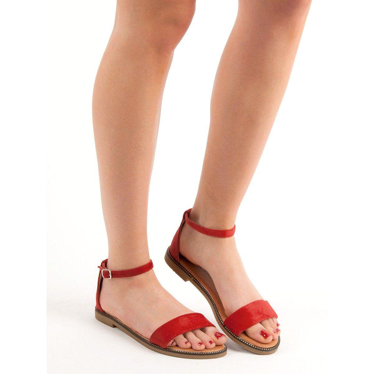 Laura Mode Klasyczne Plaskie Sandalki Czerwone Shoes Women Heels Womens Sandals Classic Heels