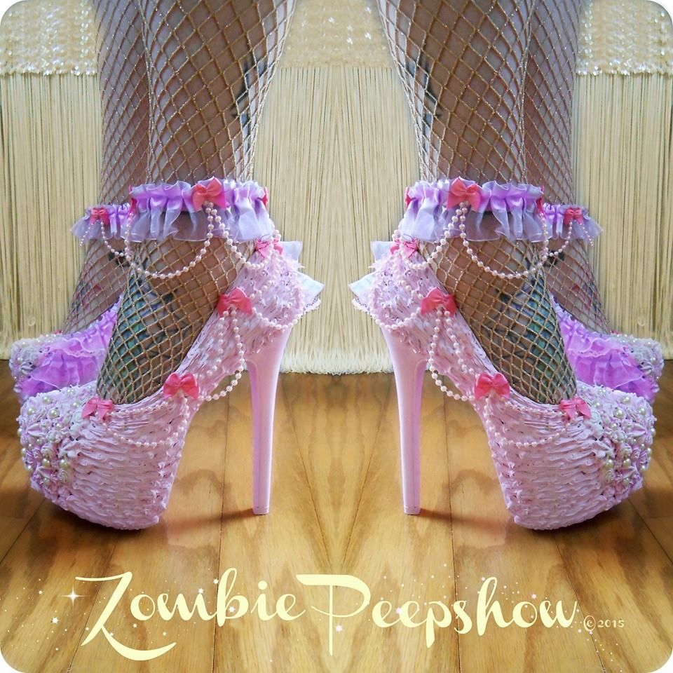 FUNKY Meduim Purple High Platform Heels BARBIE Shoes