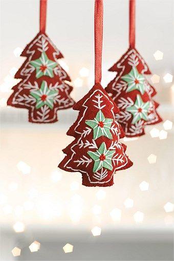 Trees Wreaths Decorations Felt Tree Ornament Set Ezibuy New Zealand Felt Christmas Ornaments Christmas Ornaments To Make Xmas Crafts