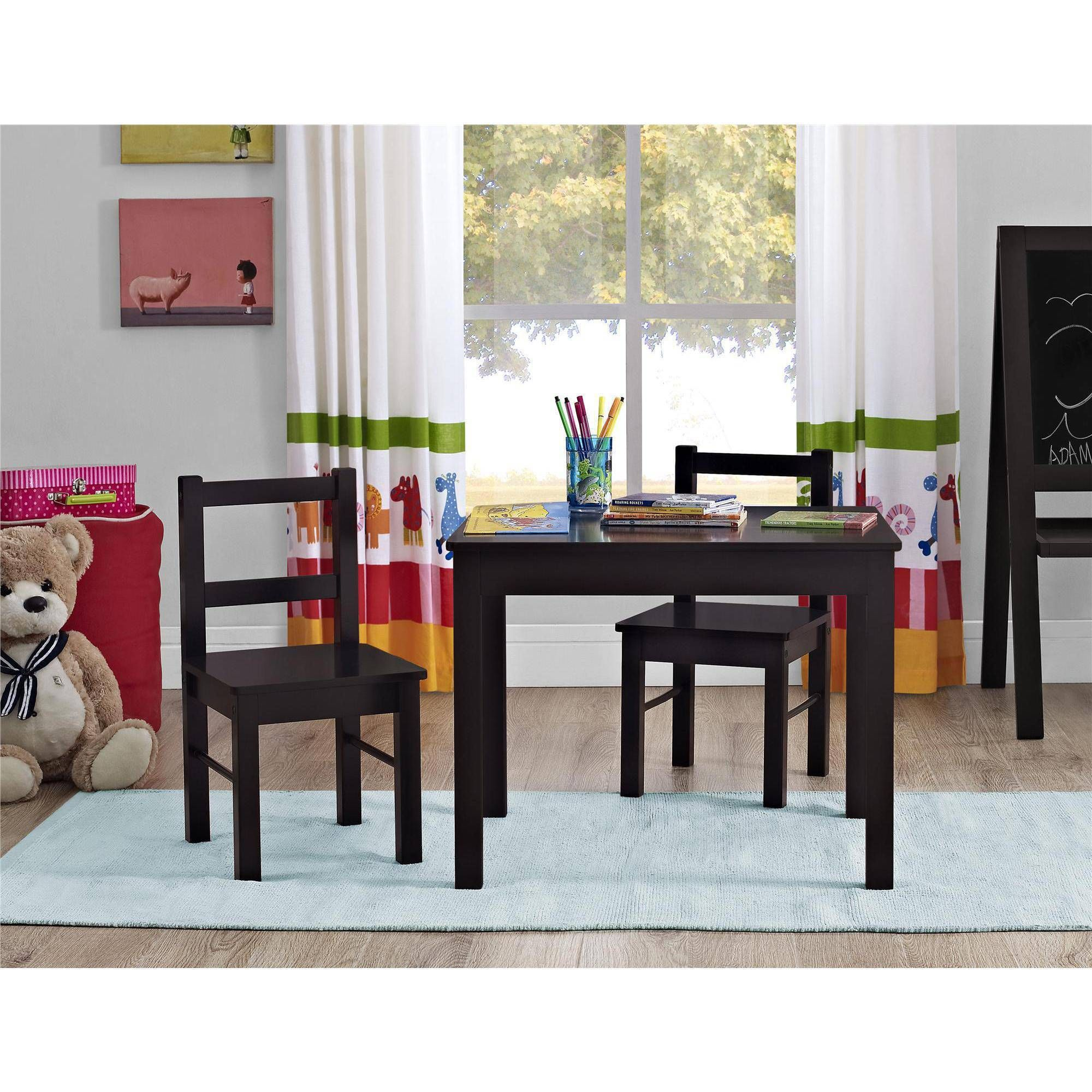 Altra Furniture Hazel Kids Table And Chairs 3Piece Set Espresso Delectable Bargain Dining Room Sets Design Decoration