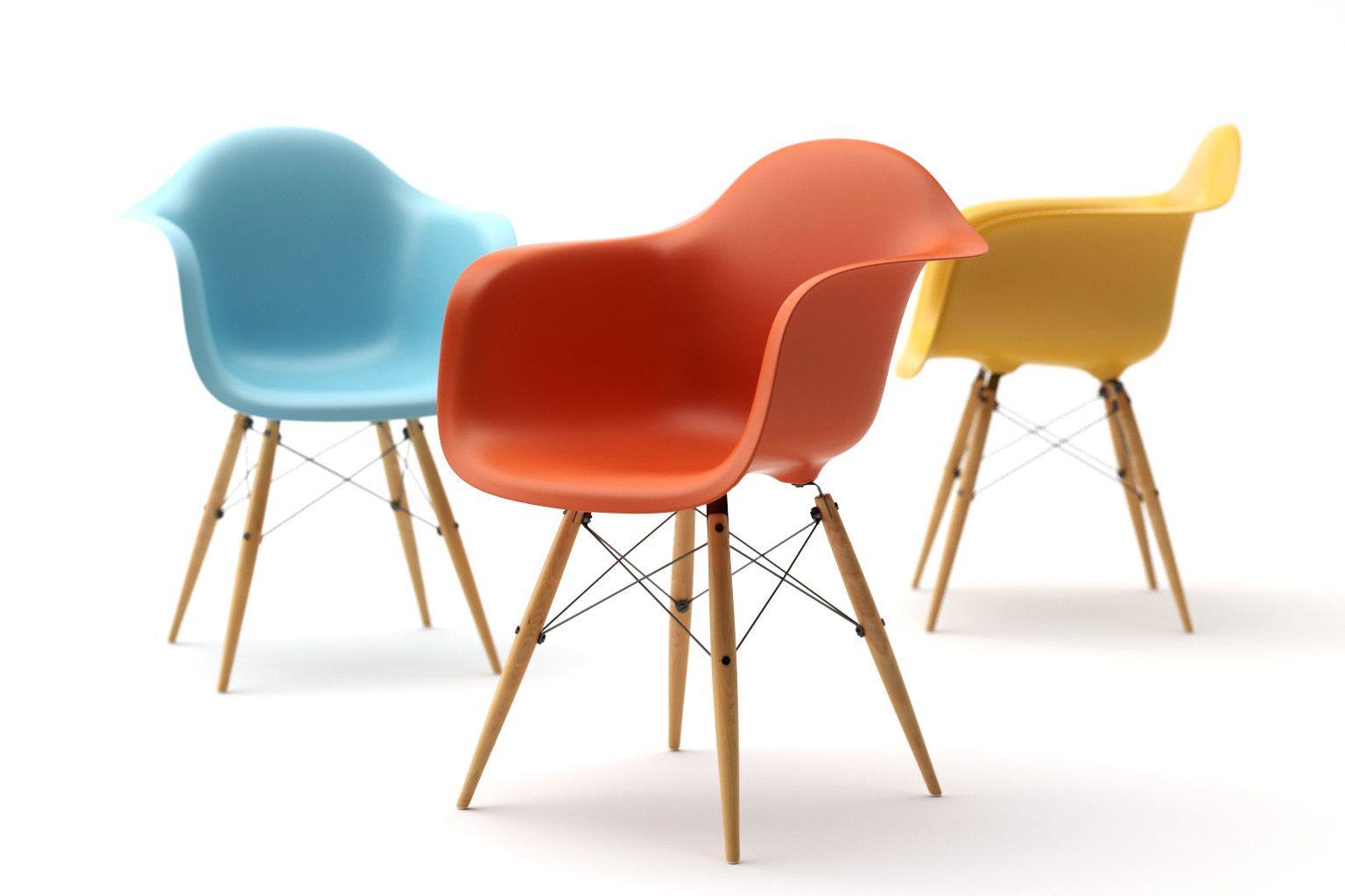 Eames plastic bucket chairs done in CAD, by Robin Stethem. STETHEM ...