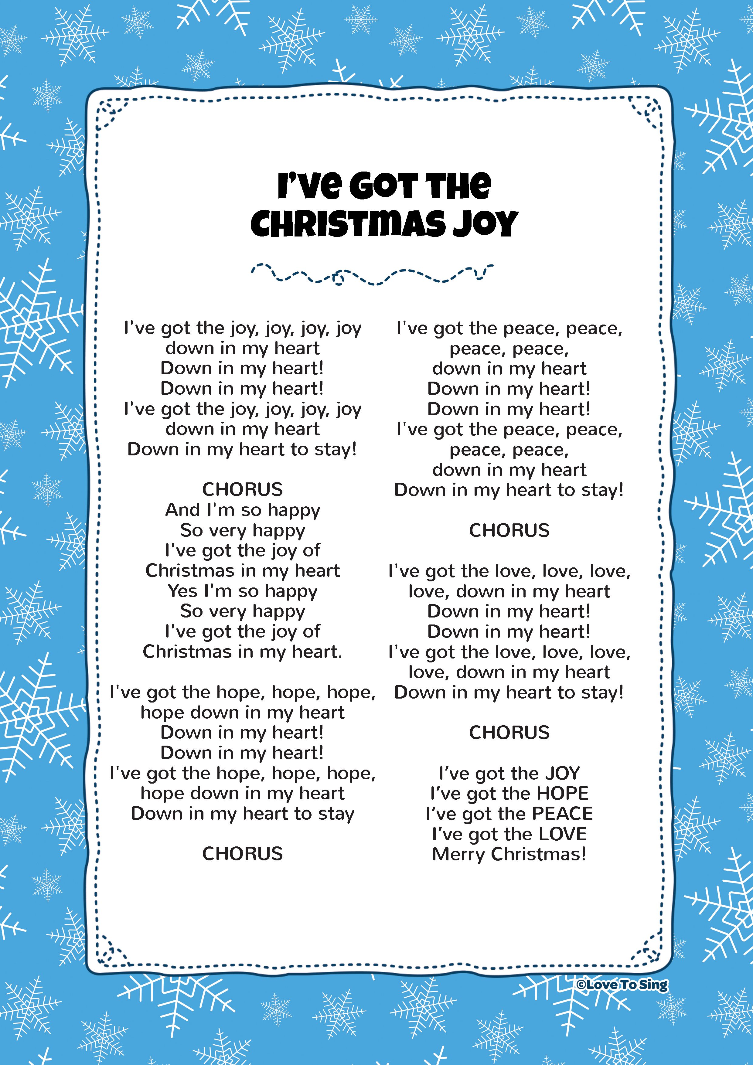 I've Got the Christmas Joy Christmas Song For Kids Free