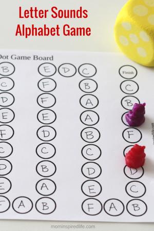Printable Letter Sounds Alphabet Board Game Letter