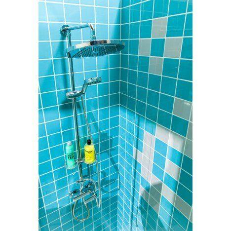 Faïence mur bleu atoll n°5, Astuce l10 x L10 cm salle de bain