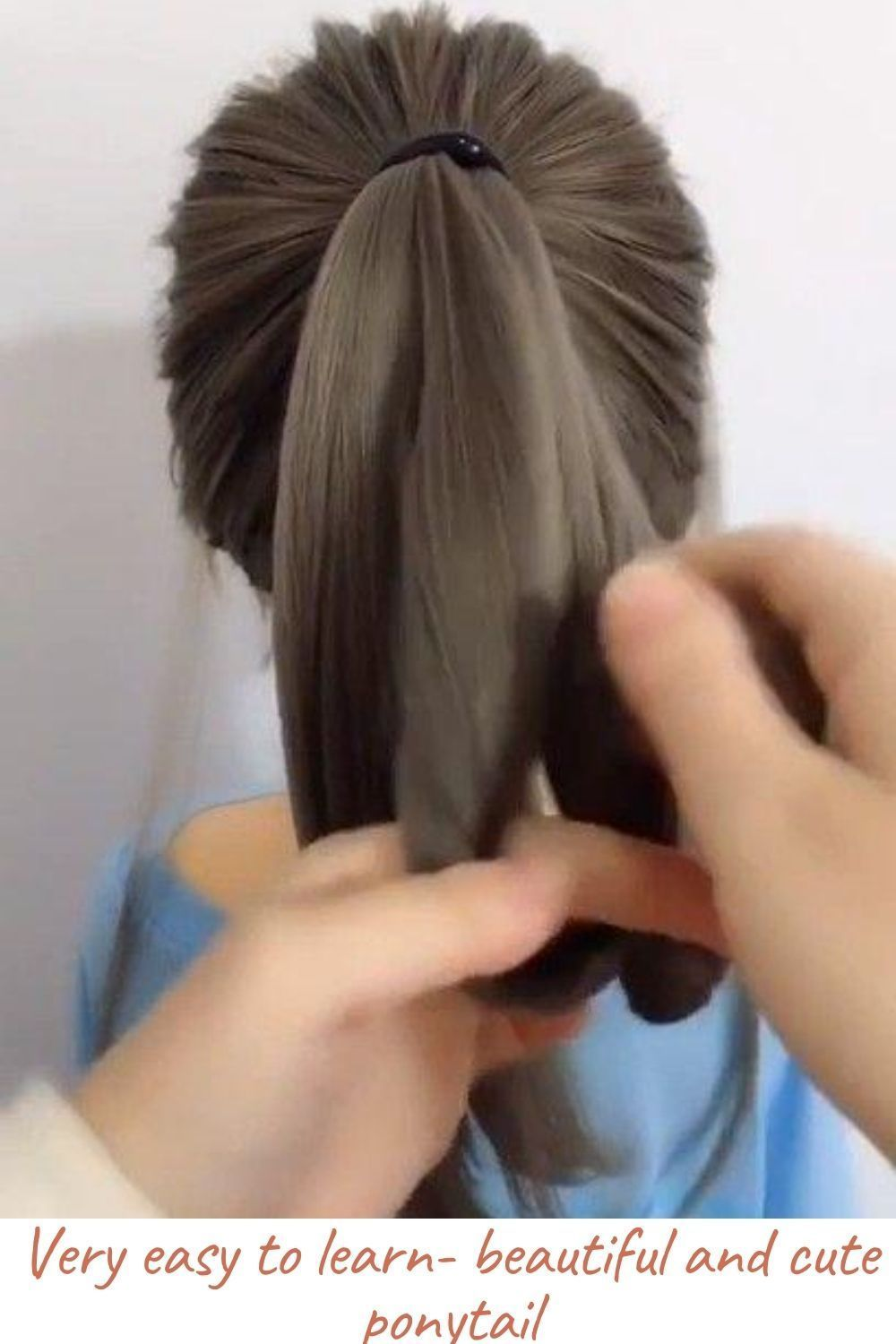 Very Easy To Learn Beautiful And Cute Ponytail In 2020 Hair Styles Long Hair Styles Cute Ponytail Hairstyles