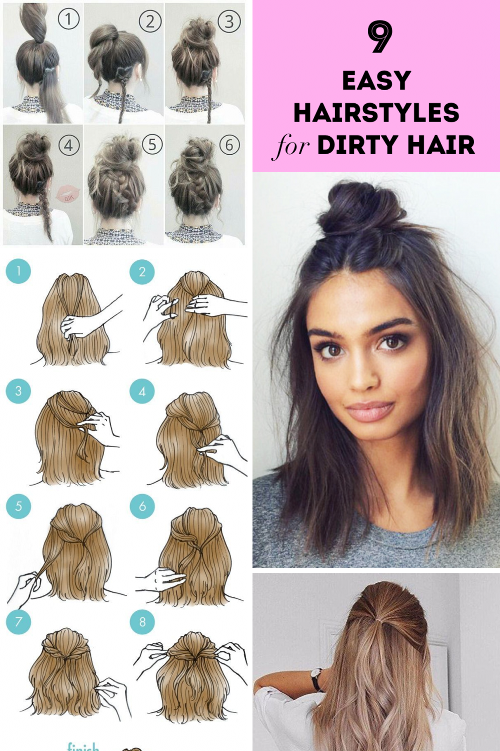 30 Lovely Easy Hairstyles For Medium Hair Simple And Easy Hair Tutorials For Medium Hair Hair Styles Easy Hairstyles