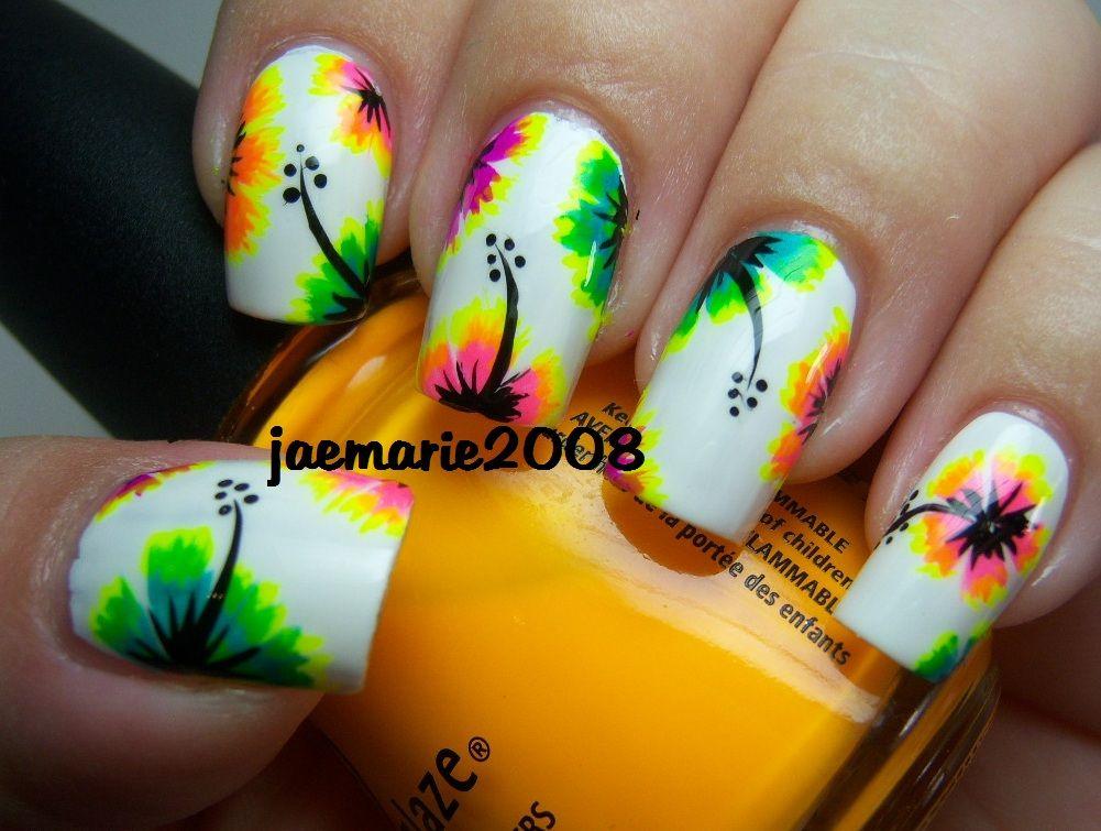 Best 25+ Tropical flower nails ideas on Pinterest ...