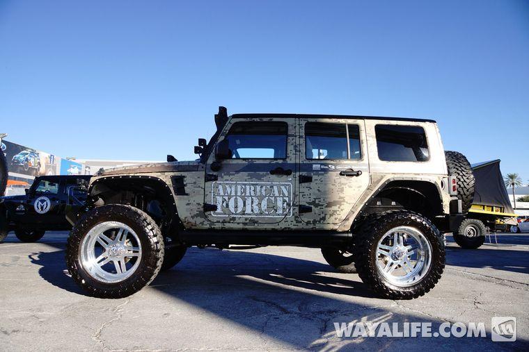 2013 Sema Camo American Force Jeep Jk Wrangler 4 Door Jeep Jk