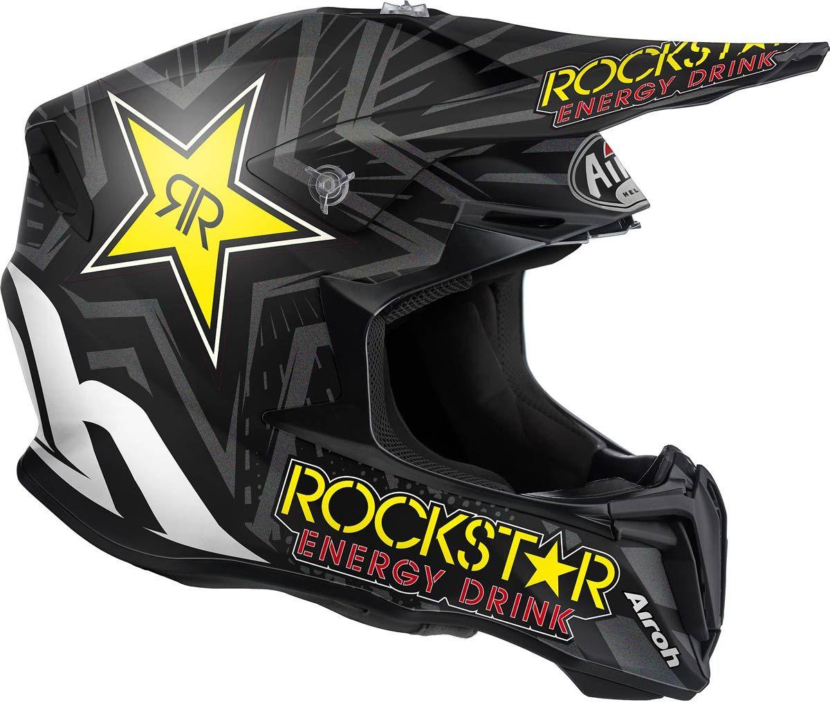 Casco moto cross Airoh Twist rockstar motard enduro helmet helm casque